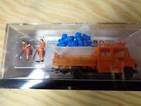 H0 Preiser 33262 straßenmeisterei. MB L 407 D.2 Workers etc. fertigmodell. BOXED