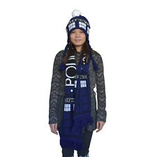 Doctor Who TARDIS Scarf Blue Police Box Scarf Cosplay Scarf Gift