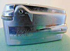 Vintage Silver Ronson Premier Varaflame Lighter Jet Age Design England Engraved