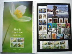 Aland Official Hard Cover Year Book 1996-1997 Complete as Issued - MNH