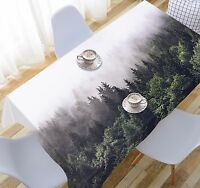 3D Misty Forest 1 Tablecloth Table Cover Cloth Birthday Party Event AJ WALLPAPER