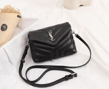 Saint Laurent YSL Crossbody Black Envelope Bag Silver Hardware