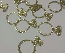 Wedding Ring Gold Glitter Table Confetti wedding or bridal shower table decor