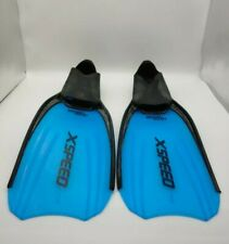 SEAC SUB XSpeed X Speed Blue Line Full Foot Fins Women's size 6-7. Made In Italy