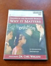 Origins in the Modern World Why It Matters Evolution Dr Carl Wieland Creatio DVD