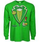st patricks day t-shirt funny Irish tuxedo green shirt leprechaun tux st pattys