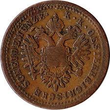 1851 (B) Austria (Austro-Hungarian Empire) 1 Kreuzer Coin KM#2185