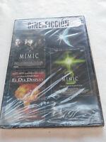 MIMIC + MIMIC 2 + EL DIA DESPUES TERROR DVD SLIM ESPAÑOL ENGLISH NEW NUEVA