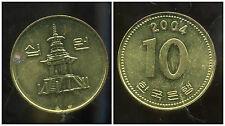 COREE DU SUD  10  won  2004