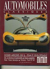 AUTOMOBILES CLASSIQUES n°33 FORD GT 40 MERCEDES 500 SL