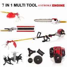 Multi Whipper Snipper 7in1 Brush cutter GX35 Petrol strimmer pruner lawn tiller