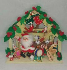 Santa's Workshop Music Box Plays Toyland Unmarked