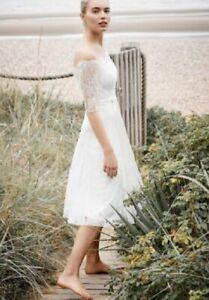 Phase Eight Evette wedding dress, size 14, BNWT, Bardot style RRP £325 DAA