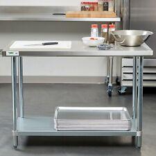 "24"" x 48"" Stainless Steel Work Prep Table Shelf Commercial Restaurant Kitchen"