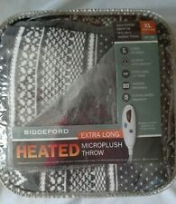 New Biddeford Electric Throw, Ultra Soft Micro Plush and EXTRA LONG 50X72