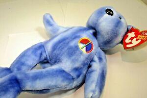 "TY Beanie Babies Peace Bear 2003 Teddy Bear 8"" new unused with tag 11th Gen. US"