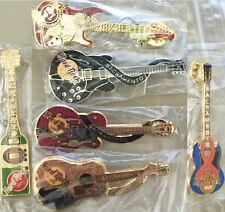 6 Hard Rock Cafe SACRAMENTO 1990s GUITAR PIN LOT Orbison Gretsch Cochran Wine +