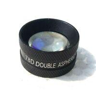 Double Aspheric Lens 78D Black Colour With wooden Box & Instruction Manual