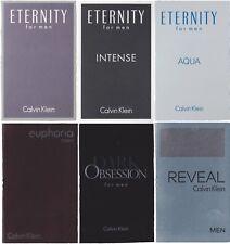 6 Calvin Klein Samples Lot Eternity Intense Aqua Euphoria Dark Obsession Reveal