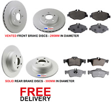 FOR MERCEDES W211 (2003-2010) E200 E220 CDI FRONT & REAR BRAKE DISCS AND PADS