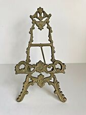 Vintage Brass Easel Picture Photo Book Stand Decorative Plate Display