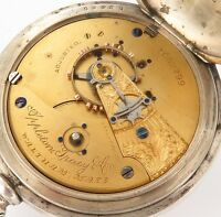 .RARE c1889 APPLETON TRACY & Co /WALTHAM 18S 15J BAY STATE IMPERIAL COIN P/WATCH