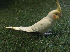 Japan Cockatiel Cockatoo Parrot Bird PVC mini figurine Figure White open mouth