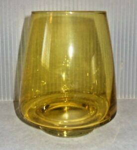 Mid Century Modern Glass Flower Vase Red Pink Aqua Gold Green Available 5 x 4
