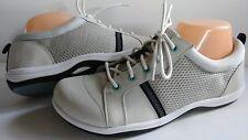$79 New Easy Street Buffy Sport Gray Leather Women 8.5 Fashion Sneakers RoundToe