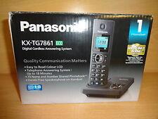 Panasonic KX-TG7861EB Teléfono con contestador automático de un solo en Caja