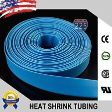 "50 FT. 50' Feet BLUE 1/8"" 3mm Polyolefin 2:1 Heat Shrink Tubing Tube Cable US"