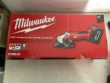 "MILWAUKEE M28 CORDLESS 4 1/2"" CUT OFF GRINDER KIT 0725-21 NEW in BOX!!!!!"