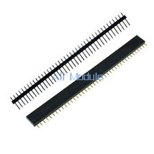 10PCS Female&Male 40pin 2.54mm Header Socket Single Row Strip PCB Connector Cool