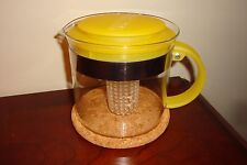 BODUM  Teapot French Press With Cork Coaster Yellow