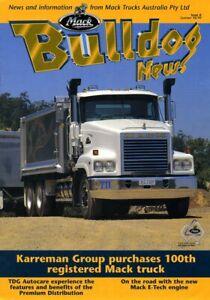 Mack Australia Bulldog News Issue 6 truck magazine brochure