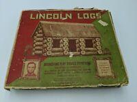Antique Vintage Lincoln Logs Set 1929 Ephemera Instructions w Pictures JL Wright