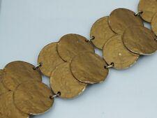 Roman Coin Bracelet By Art Vintage Costume Bronze Color
