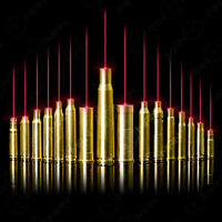 9mm/12GA/30-30WIN Red Dot Laser Bore sight Brass Cartridge Boresighter&battery
