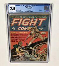 FIGHT COMICS #24 CGC 2.5 KEY! (Dan Zolnerowich Bondage Cover!)1943,Fiction House