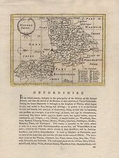 1787 COUNTY MAP JOHN SELLER - GROSE - OXFORDSHIRE