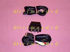 Chinchkabel AV/TV & SCART-Adapter & Stromkabel (Euro-8-Buchse) PS1/PS2 Konsolen