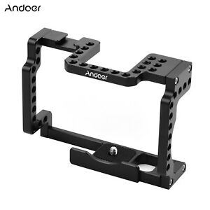 Andoer Camera Cage Rig Aluminum Alloy w/ Cold Shoe 1/4 for Canon M50 Camera D1F1