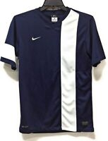 Nike Mens 520583 Short Sleeve Soccer Jersey Navy Blue White Dri Fit Size Small