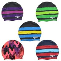 Speedo Swim Adult Mens Womens Racing Graphic Swimming Pool Head Cap