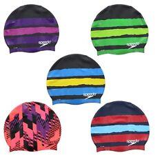 Speedo Swim Cap Adult Mens Womens Racing Graphic Swimming Pool Head Cap