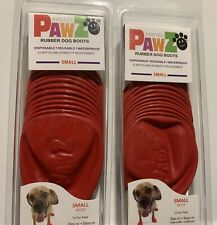 Set of 2 packs Small Pawz dog Boots Red New