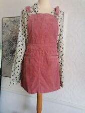 H&M Rosa Cable Delantal Peto Vestido Talla 10