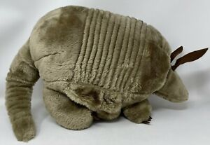 """Vintage Large Stuffed Armadillo Plush, 24"""" Long, Belly Pouch, Stuffed Animal"""