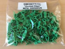 (100 Pcs.) Simonetti 300500VR Orchid Clips, Garden Support Clips, Trellis Plants