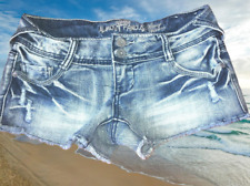 Almost Famous cutoff jean Shorts womens Size 0 Destroyed denim booty shorties